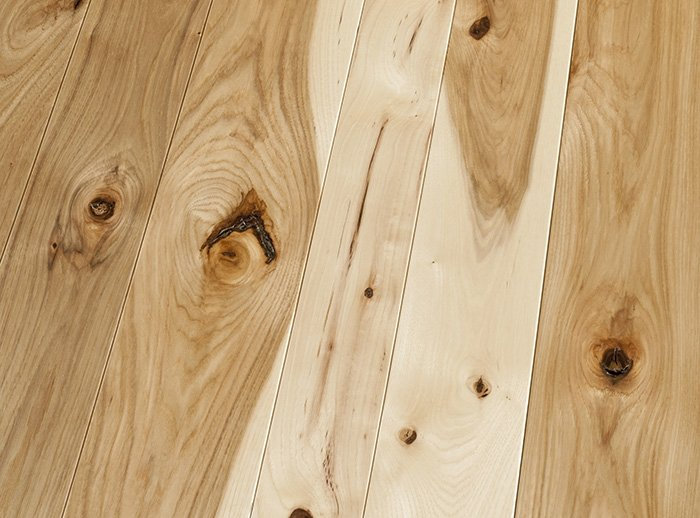 Hickory Character Natural Finish wood flooring